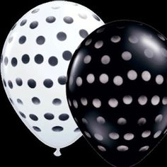 Kate Spade is about poka dots and stripes. These balloons are perfect for a themed Kate Spade shower.