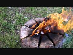 cooking on swedish torch | ... balance a pan or pot n the top and cook or fry some food on your log