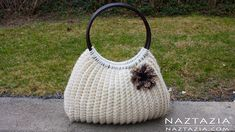 DIY Tutorial Easy Crochet Savvy Handbag Purse Tote - Croche Bolsa Bag