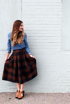 Anthro inspired midi skirt sewing tutorial