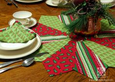 We all love to make our home welcoming during this time of the year - what better way than to make a quick and easy table topper using fabrics that fit this #holiday season! #EZ #Quilting #Simplicity #FreeProject #DIY