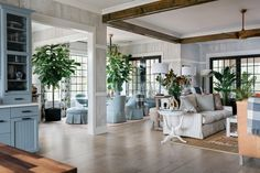 The great room at HGTV Smart Home 2018 combines the perfect mix of classic design and Southern charm with high-tech upgrades to keep the family entertained, connected and completely relaxed.