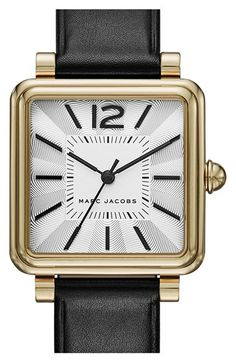 Free shipping and returns on MARC JACOBS 'Vic' Leather Strap Watch, 30mm at Nordstrom.com. A polished, dual-layer bezel borders the striking guilloche dial on a sophisticated square watch set upon a textured leather band.