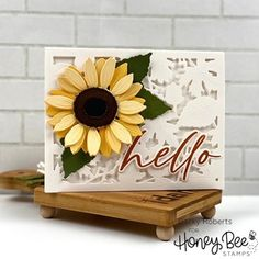 Paper Craft Supplies, Paper Crafts, Diary Decoration, Set Honey, Sunflower Cards, Honey Bee Stamps, Copic Sketch Markers, Fall Cards, Christmas Cards