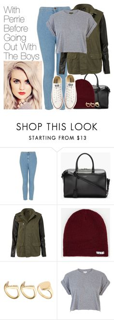"""""""With Perrie Before Going Out With The Boys"""" by onedirectionimagineoutfits99 ❤ liked on Polyvore featuring Topshop, Yves Saint Laurent, Neff, Converse, ASOS and River Island"""