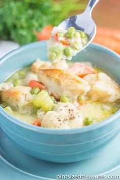 easy dinner idea crockpot chicken dumping