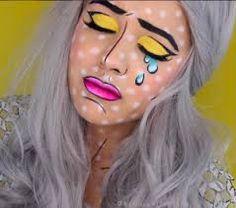 Image result for pop art makeup tutorial