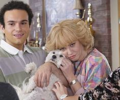 Image about love in The Goldbergs by Clara on We Heart It Beverly Goldberg, The Goldbergs, Animals Beautiful, Cuddling, Tv Shows, Harry Potter, Film, Dogs, Movies