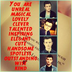 The one with the best traits of Chris Colfer