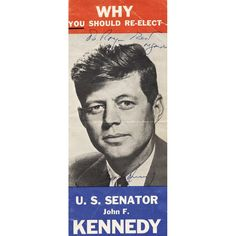 John F. Kennedy Signed Campaign Pamphlet