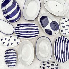 Bridget Bodenham ceramics blue and white ceramics Pottery Plates, Ceramic Pottery, Thrown Pottery, Slab Pottery, Pottery Painting, Ceramic Painting, Ceramic Clay, Ceramic Plates, Keramik Design