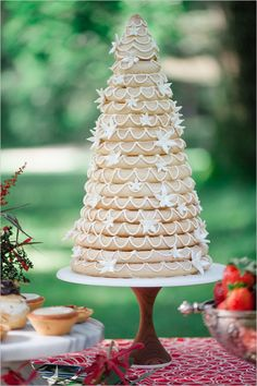 Kransekage Norwegian wedding cake by Swedish Bakery Photography by Roots of Life Photography. Wedding Sweets, Wedding Cake Flavors, Wedding Cakes With Cupcakes, Wedding Cake Decorations, Wedding Cakes With Flowers, Wedding Cake Designs, Wedding Cake Toppers, Flower Cakes, Wedding Cake Rustic