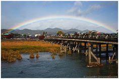 https://flic.kr/p/dC49Qh | Rainbow over Togetsu bridge (渡月橋), Kyoto, Japan…