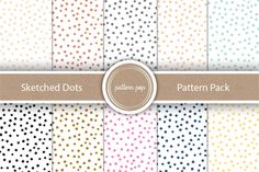 Sketched Dots Pattern Pack by pattern pop on Creative Market