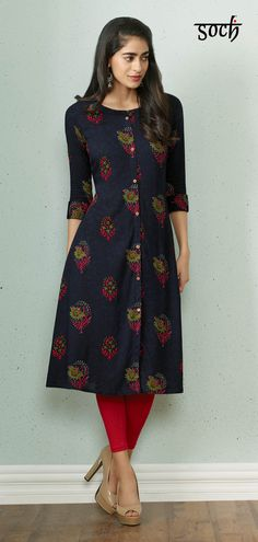 Pin on Simple kurti designs Simple Kurta Designs, Stylish Dress Designs, Kurta Designs Women, Stylish Dresses, Latest Kurti Designs, Printed Kurti Designs, Churidar Designs, Kurtha Designs, Sleeves Designs For Dresses