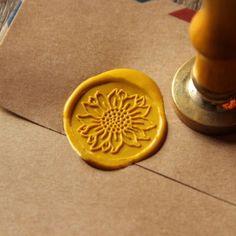 Sunflower-Wax-Seal-Stamp-flower-Sealing-wedding-invitation-brass-wax-stamp-WS016