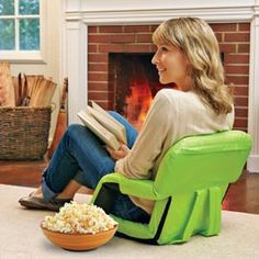 Portable Recliner with Armrests, Padded Portable Chair, Lawn Concert Chair | Solutions