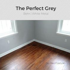 Best Behr Whisper White Trim White Metal Walls Silver Bullet 400 x 300
