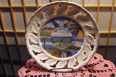 "9"" SEATTLE SOUVENIR PLATE Government Locks, Mt Rainier, Smith Tower, Pre 1956"