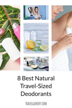 What's the best travel deodorant? Here I review 8 great natural travel-sized deodorants that you can take anywhere with you. Smaller in size, these best travel deodorants will make you feel fresh and sweat-free even on long travel days. They fit perfectly in your handbag or a backpack. Deodorants for travel that are organic, bio & made from natural ingredients, aluminum-free. #travel #deodorant #naturaldeodorant #traveldeodorant #travelsize #travelgift #travelgeekery #naturalcosmetics…