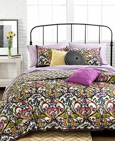 CLOSEOUT! Mosaic Damask 2 Piece Twin Duvet Cover Set - Apartment Bedding - Bed & Bath - Macy's