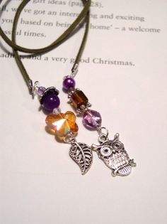 Handmade Beaded Bookmark for Books  Silver by VitezArtGlassDesign, $12.00