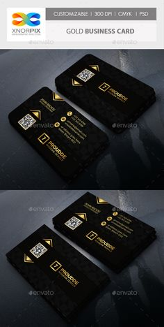 Gold Business Card - PSD Template • Download ➝…