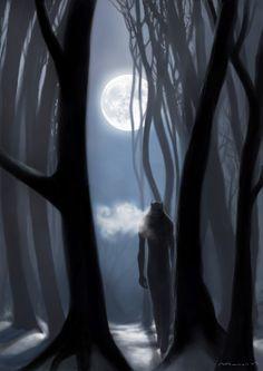 Werewolf Signed Original Art Print by WavingMonsterStudios