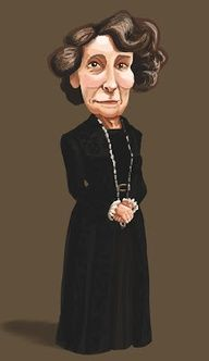 Downton Caricatures Mrs Hughes