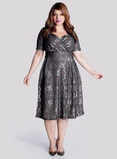 Marisol Lace Dress in Truffle