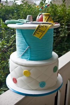 Sewing cake, everything is edible :)