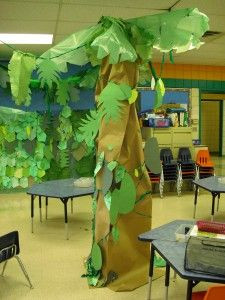 The great Kapok tree. What a fun and creative way to decorate. This could be used for so many different lessons too!