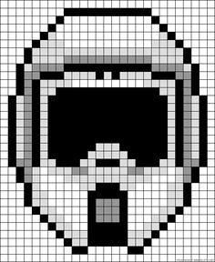 Scout Trooper Star Wars perler bead pattern