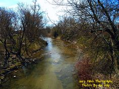 The Cobourg Creek in Cobourg ontario