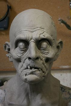 Easy Clay Sculptures, Sculpture Clay, Conquest Of Mythodea, Zombie Mask, Zombie Head, Traditional Sculptures, Best Zombie, Creature Concept, Monster