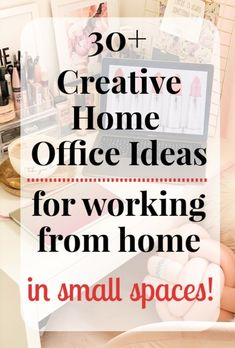 No room for a home office in your tiny abode? Think again! Here's 30 clever small home office ideas to help you productively work at home in a small space. Office Ideas For Work, Office Organization At Work, Small Space Office, Small Spaces, Wall Storage, Floor Space, Working Area, Creative Home, Space Space