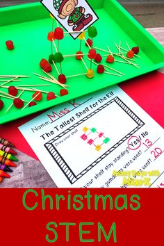 Does your Elf need a shelf? Build him one during this Christmas STEM activity! This December science experiment is perfect for kindergarten or first grade and is a fun STEM activity to welcome the Elf on the Shelf! Kindergarten Science Experiments, Kindergarten Stem, Stem Science, Holiday Activities, Preschool Activities, Christmas Activities For Children, Preschool Christmas, Kids Christmas, Xmas