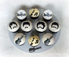 The Beatles Cupcakes need to make for my hubby!