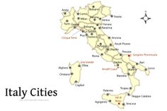 Learn What to See in Italy with our Map and Travel Guide: Map of Italy Showing Cities and Major Italian Attractions