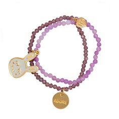 """Cute Bunnie """"Adore Me"""" Word Charm Bracelet Kids Jewelry, Jewelry Accessories, Jewelry Design, Crystal Bracelets, Crystal Beads, Crystals, Kids Fashion, Fashion Jewelry, Charmed"""