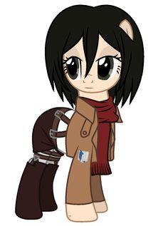 Mikasa Ackerman [Attack on Titan] My Little Pony version