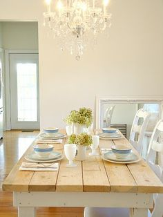Best Farm Style Tables Images On Pinterest Farmhouse Table - Natural wood farm table
