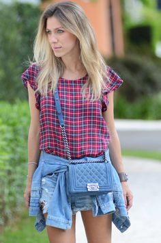 Glam4You por Nati Vozza | LOOK DO DIA Casual Xadrez & Jeans