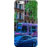 Colourful Melbourne Tram on Collins Street, Melbourne iPhone Case/Skin
