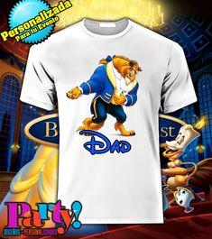 Playera Personalizada Disney La Bella y La Bestia  - comprar online