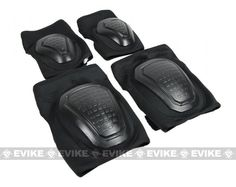 Matrix Bravo Advanced Neoprene Tactical Knee and Elbow Pad Set - Black, Tactical Gear/Apparel, Knee / Elbow Pads - Evike.com Airsoft Superstore
