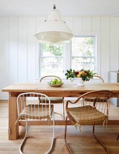 minimal, unique dining room