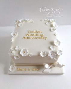 anniversary wedding bell cake toppers - Enchanting Wedding Anniversary Cake Ideas Inspirations You Must See - First thing first: congratulation on your wedding anniversary! Well, it is indeed a great job to get this far—fifty years together! Diamond Wedding Anniversary Cake, Golden Anniversary Cake, 15 Year Wedding Anniversary, 50th Anniversary Cakes, Celebration Cakes, Cake Toppers, Cake Ideas, Sheet Cakes, Wedding White