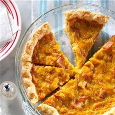 Canadian Bacon Onion Quiche Recipe -For over 20 years, we sold our homegrown specialty onions at the farmers market. I handed out this favorite recipe for a classic quiche to all our customers. —Janice Redford, Cambridge, Wisconsin