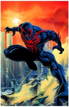 #Spiderman #2099 #Fan #Art. (Spiderman 2099) By: Damon Bowie. ÅWESOMENESS!!!™ ÅÅÅ+